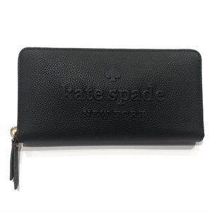 Kate Spade Neda Larchmont Avenue Logo Zip Wallet
